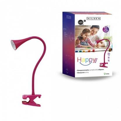 Lampka biurkowa LED HAPPY CLIPS RÓŻOWA
