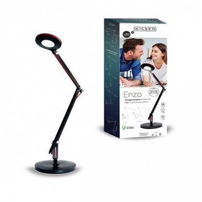 Lampka biurkowa LED ENZO 3w1 CZARNA