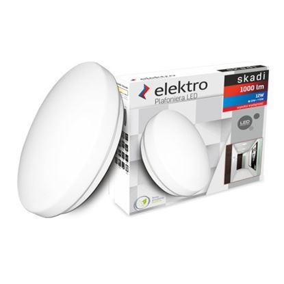Plafoniera LED SKADI 12W 840 1000lm Okrągła 230V 4000K ELEKTRO