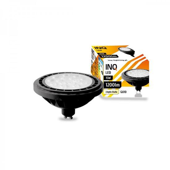 LAMPA LED  AR111  GU10  15W 830 230V 36^ 1200lm czarny INQ