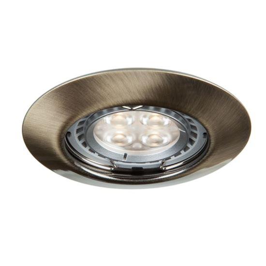 Oprawa OZZO DINA 111-AB okrągła stała metal mosiądz