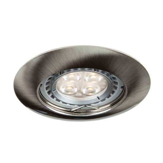 Oprawa OZZO DINA111-SN okrągła stała metal satyna