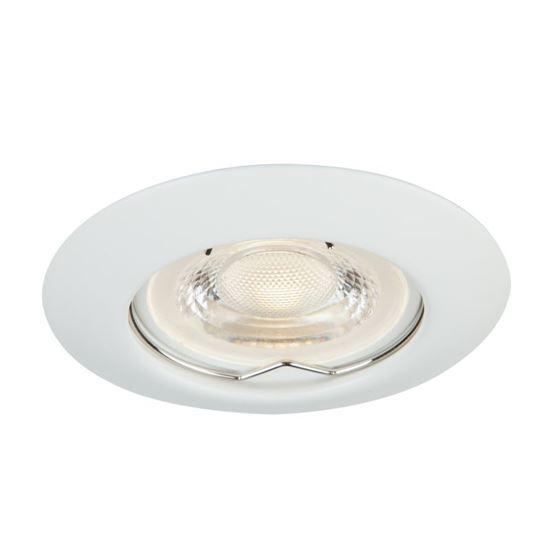 Oprawa OZZO DINA111-WH okrągła stała metal biały
