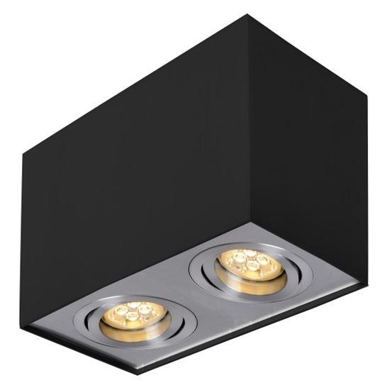 Oprawa OZZO n/t FABIO 2B/AL kwadrat podwójny ruchomy czarny/alu