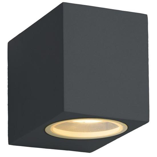 Kinkiet OZZO FLAVIO SQUARE 1A  IP44 1xGU10 antracyt ( jak czarny )