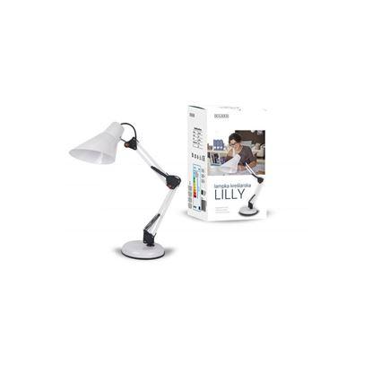 Lampka biurkowa E27 LILLY biała