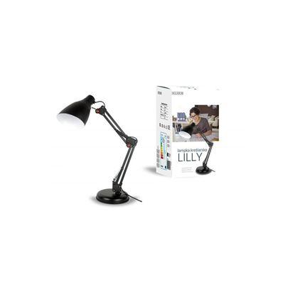 Lampka biurkowa E27 LILLY czarna