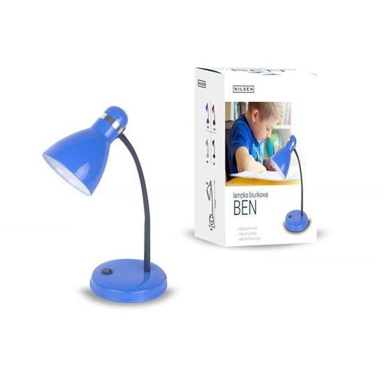 Lampka biurkowa E27 BEN niebieska