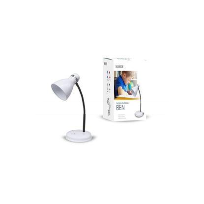 Lampka biurkowa E27 BEN biała