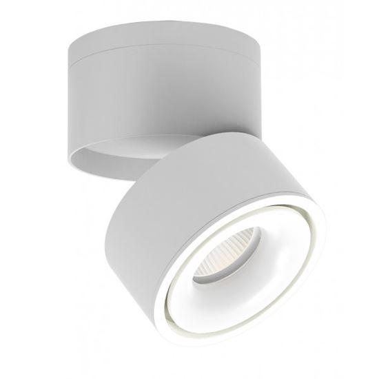 Oprawa OZZO LED n/t KAMI 1W/W 15W 3000K 1150lm 120^ tubka łamana biała