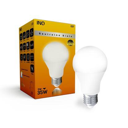 LAMPA A60 E27 LED  5 BULB 400lm 4000K INQ