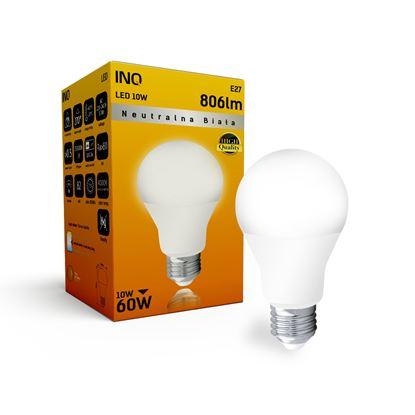 LAMPA A60 E27 LED 10 BULB 806lm 4000K INQ