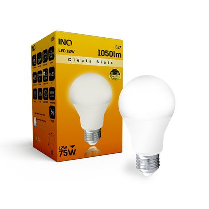 LAMPA A60 E27 LED 12 BULB 1055lm 3000K INQ