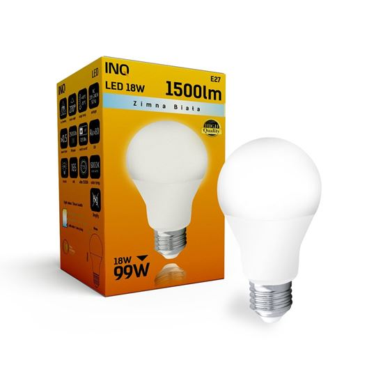 LAMPA A70 E27 LED 18 BULB 1500lm 6000K INQ