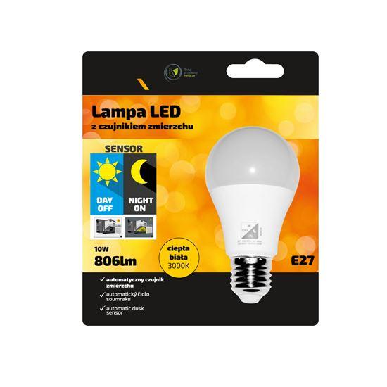 Lampa Led E27 10W 3000K 806lm z czujnikiem zmierzchu INQ