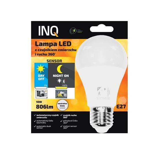 Lampa Led E27 10W 4000K 806lm z czujnikiem zmierzchu i ruchu HF 360 INQ