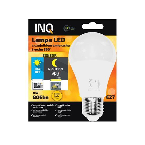 Lampa Led E27 10W 3000K 806lm z czujnikiem zmierzchu i ruchu HF 360 INQ