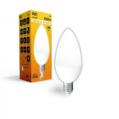 LAMPA B35 E14 LED  3 ŚWIECZKA 250lm 4000K INQ