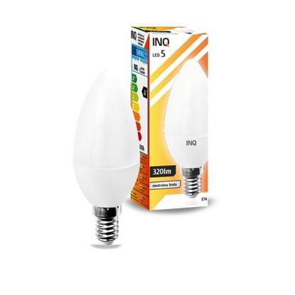 LAMPA B35 E14 LED  5 ŚWIECZKA 320lm 3000K INQ