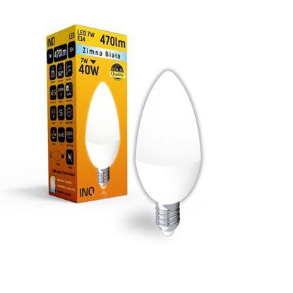 LAMPA B35 E14 LED  7 ŚWIECZKA 470lm 6000K INQ