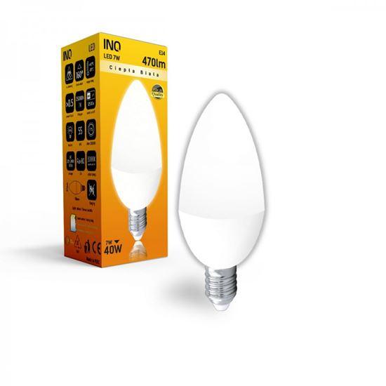 LAMPA B35 E14 LED  7 ŚWIECZKA 470lm 3000K INQ