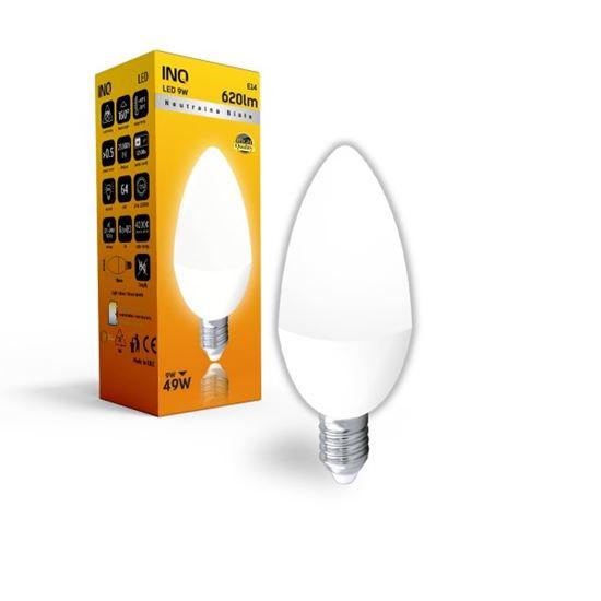 LAMPA B35 E14 LED  9 ŚWIECZKA 620lm 4000K INQ