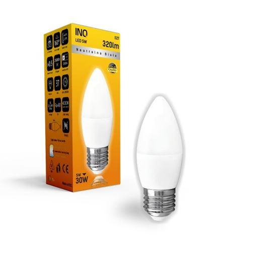 LAMPA B35 E27 LED  5 ŚWIECZKA 320lm 4000K INQ