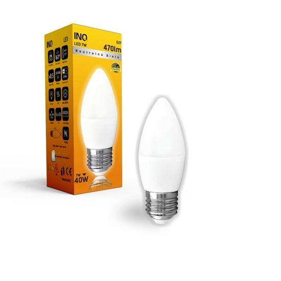 LAMPA B35 E27 LED  7 ŚWIECZKA 470lm 4000K INQ