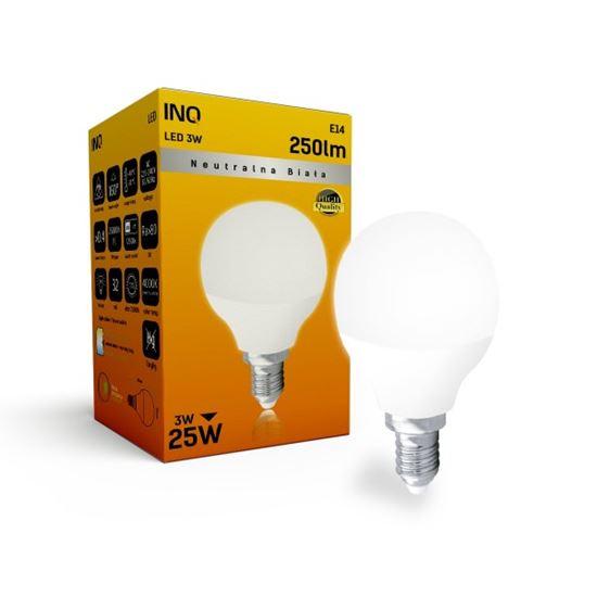 LAMPA  P45 E14 LED  3 KULKA 250lm 4000K INQ