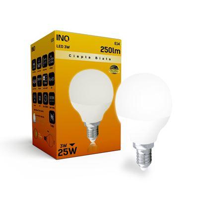 LAMPA  P45 E14 LED  3 KULKA 250lm 3000K INQ