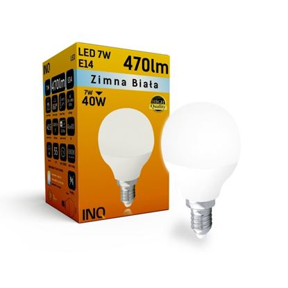 LAMPA  P45 E14 LED  7 KULKA 470lm 6000K INQ