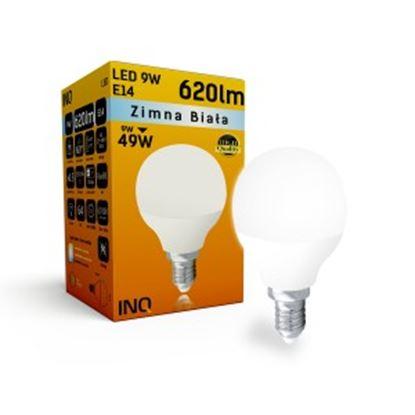 LAMPA  P45 E14 LED  9 KULKA 620lm 6000K INQ