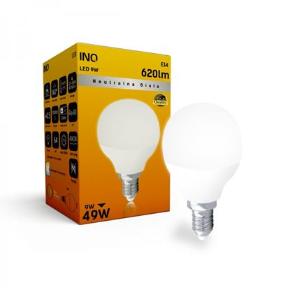 LAMPA  P45 E14 LED  9 KULKA 620lm 4000K INQ