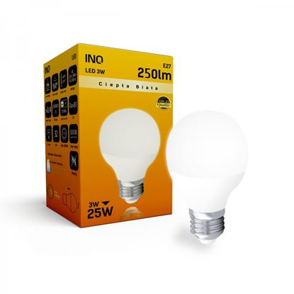 LAMPA  P45 E27 LED  3 KULKA 250lm 3000K INQ