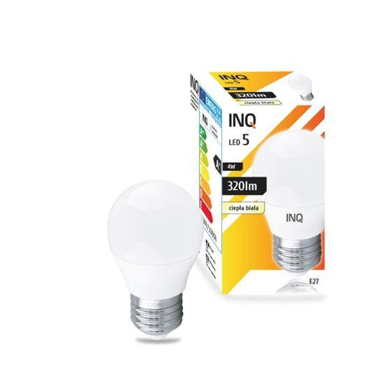 LAMPA  P45 E27 LED  5 KULKA 323lm 3000K INQ