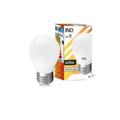 LAMPA  P45 E27 LED 9 KULKA 620lm 4000K INQ