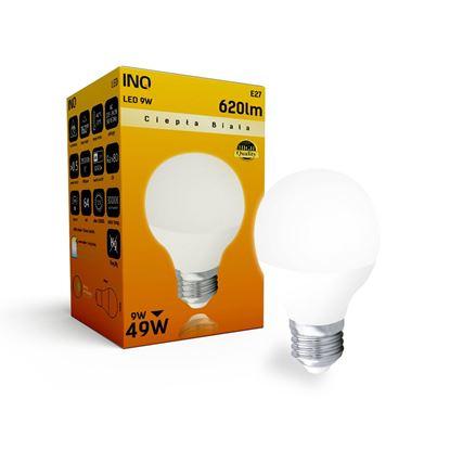LAMPA  P45 E27 LED 9 KULKA 620lm 3000K INQ