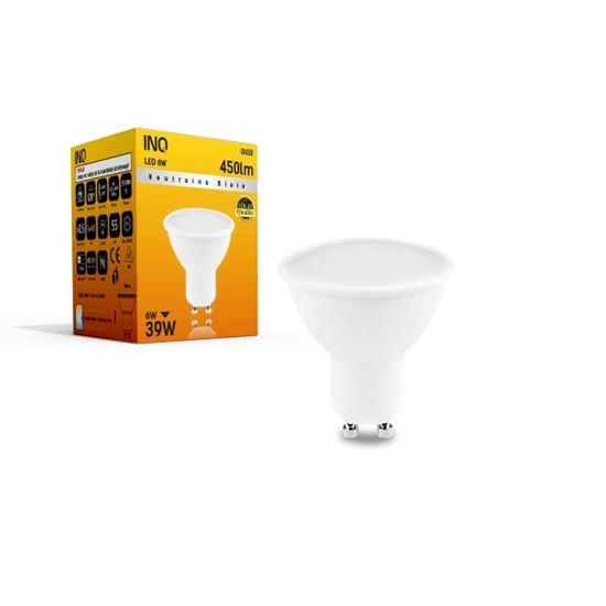 LAMPA LED GU10  LED 6 4000K 450lm INQ