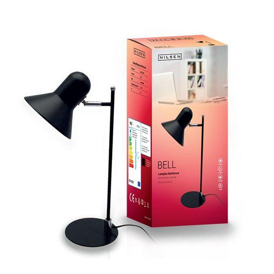 Lampka biurkowa E27 BELL czarna