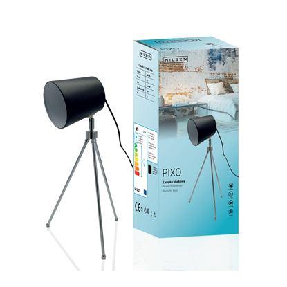 Lampka biurkowa E27 PIXO czarna