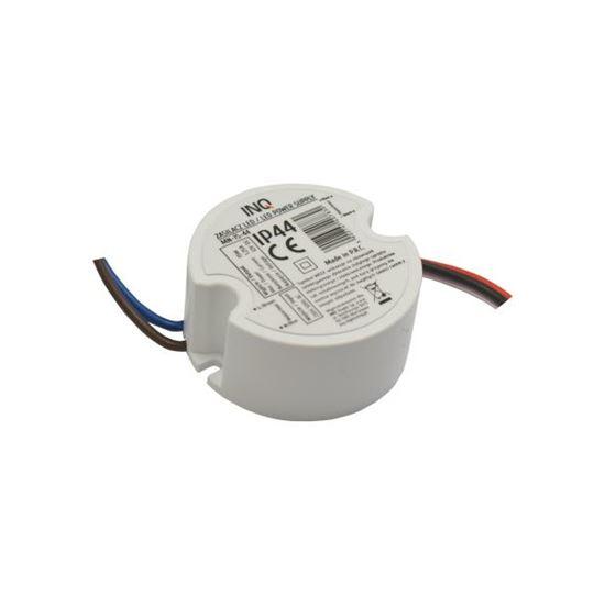 Zasilacz LED montażowy IP44 15W 1,25A  12V  DC-prąd stały do puszki INQ