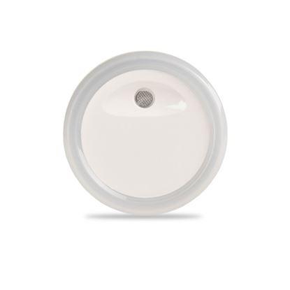 Lampka nocna wtykowa LED 0.4W 4lm z czujnikiem zmierzchu, okrągła
