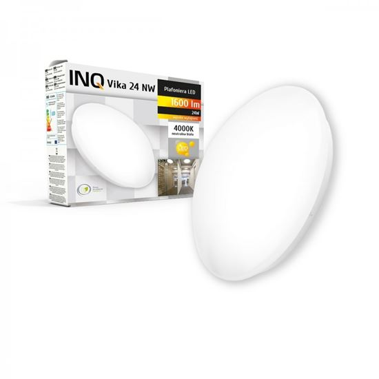 Oprawa LED Plafoniera VIKA 24W 1600lm 4000K okrągła INQ