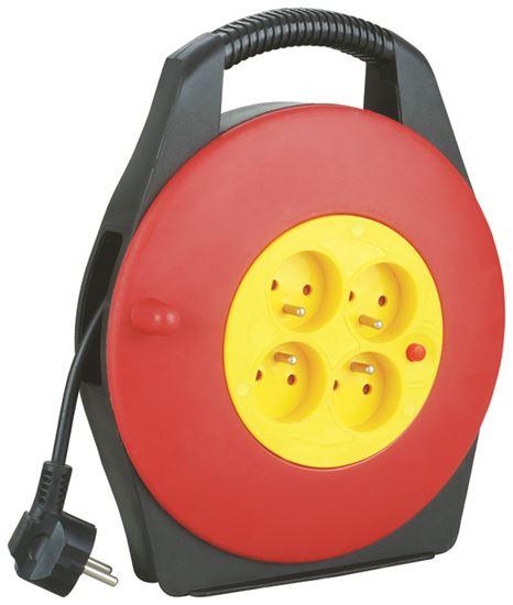 Przedłużacz w kasecie 4G 10m Z/U z wył. termicznym czerwono/czarny ELEKTRO