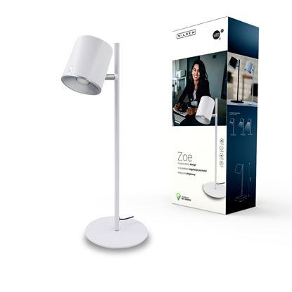 Lampka biurkowa LED ZOE biała