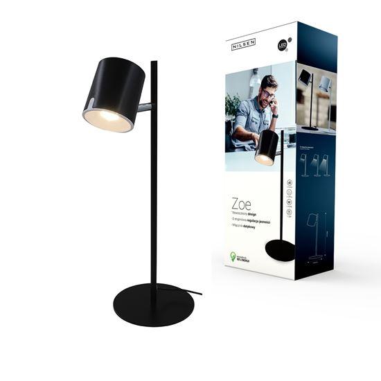 Lampka biurkowa LED ZOE czarna