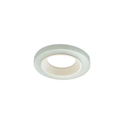 Wycofana Oprawa OZZO VENI 11G-ML. okrągły pierścień IP20 mleczne szkło