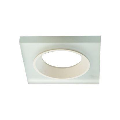 Oprawa OZZO VENI 12G-ML. kwadratowy pierścień IP20 mleczne szkło