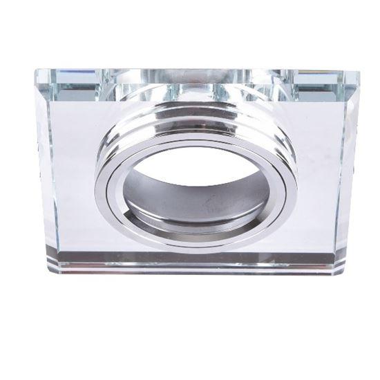 Oprawa OZZO VIDI 12G-S/CH kwadratowa srebrna stała szkło