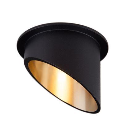 Oprawa OZZO VITA L 112-BL/G okragły pierścień IP20 czarno-złoty